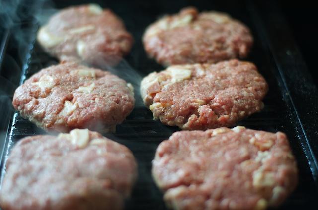 still grilling burgers