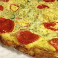 Bacon, Leek, Zucchini and Tomato Frittata