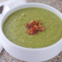 Asparagus, Bacon and Broccoli Soup