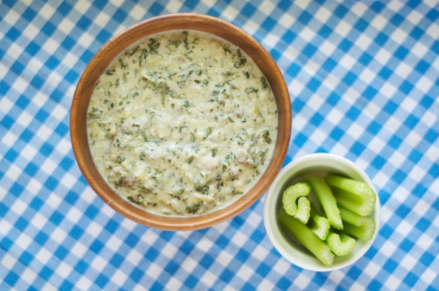 bacon spinach artichoke dip