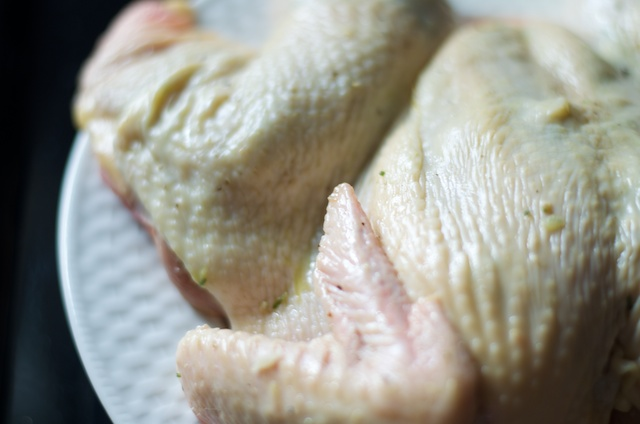 rubbed chicken