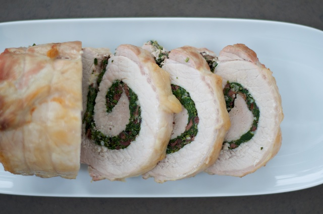 sliced pork loin