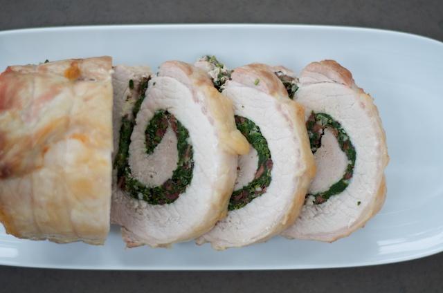 sliced pork loin