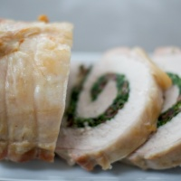 Greek Pork Loin Roulade