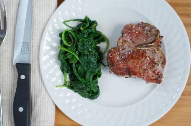 Pan Seared lamb loin chop
