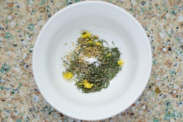 lemon zest, oregano, thyme