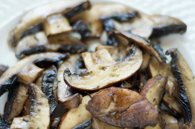 delicious grilled mushrooms