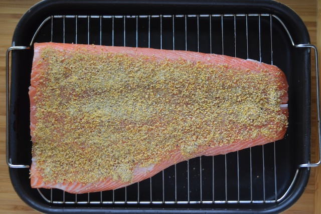 dill and mustard paleo salmon