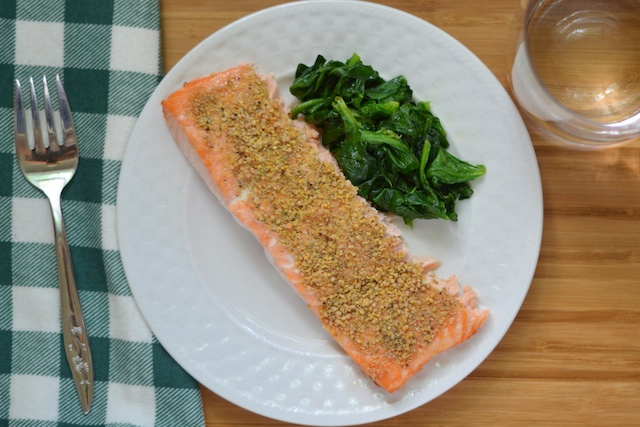 fast salmon with dill and mustard paleo