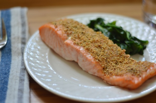 mustard and dill salmon baked