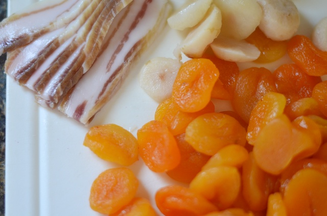 ingredients bacon apricot