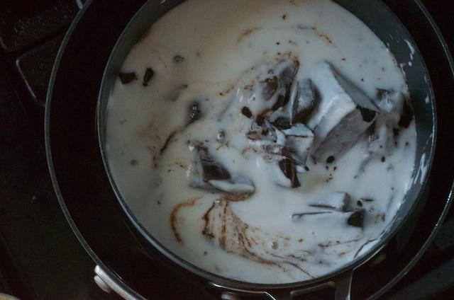 melting coconut milk and chocolate fudge recipe