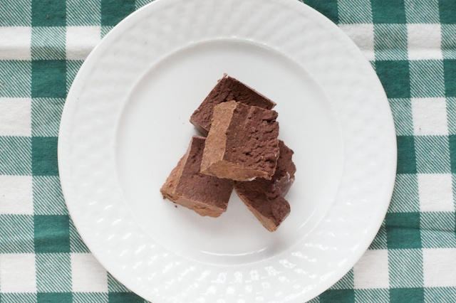 chocolate fudge recipe cut into pieces