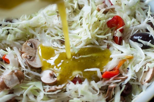 Mediterranean Coleslaw Recipe (Vegetarian, Paleo, Primal)