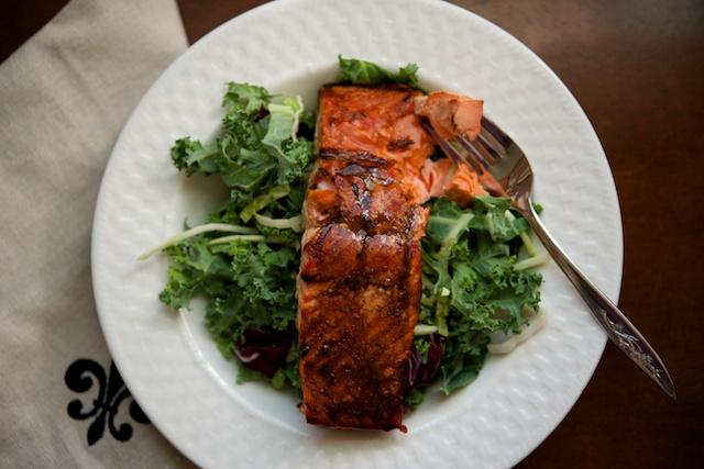 Cedar Planked Salmon with Thyme-Balsamic Glaze (paleo, primal, gluten-free)