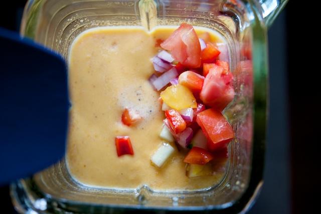 Sweet Potato Gazpacho Recipe (paleo, primal, gluten-free)
