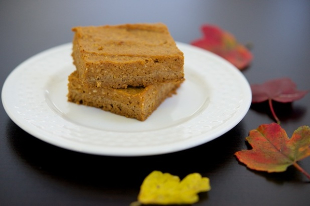 Pumpkin Pie Bars with Gingerbread Crust Recipe (paleo, primal, gluten-free)