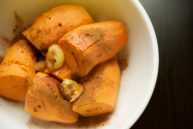 Cider-Stewed Mashed Sweet Potatoes Recipe (paleo, primal, gluten-free)