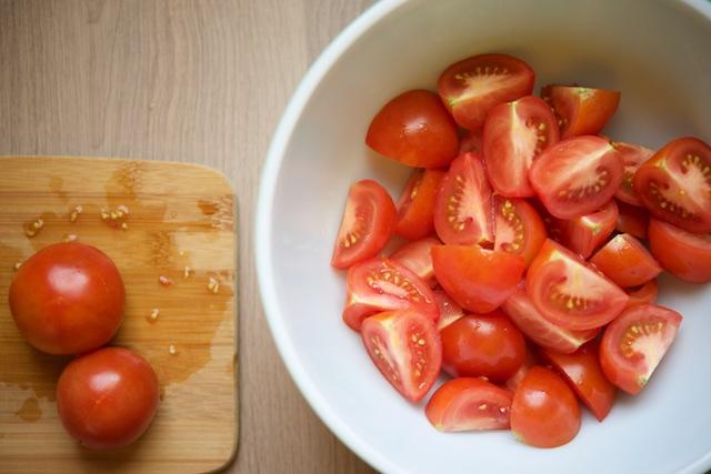 Tomato Pesto Salad Recipe (paleo, primal, gluten-free)