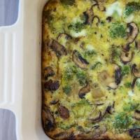 Sunday Broccoli-Mushroom Egg Bake