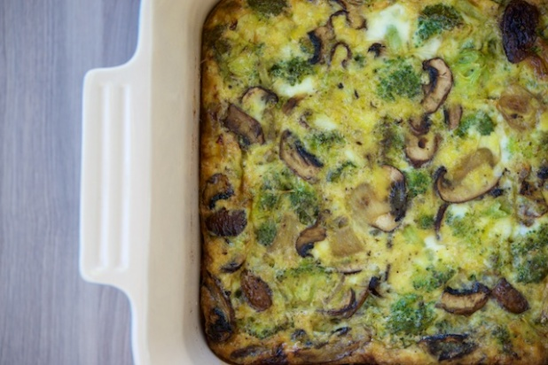 Sunday Broccoli-Mushroom Egg Bake Recipe (paleo, primal, gluten-free)