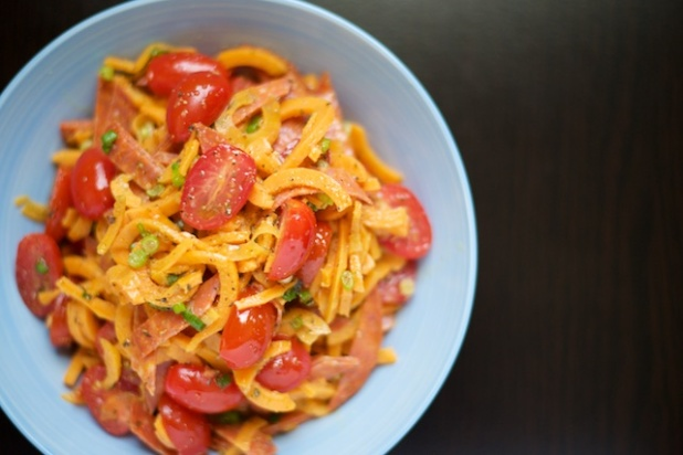 "Pepperoni Pizza ""Pasta"" Salad Recipe (paleo, primal, gluten-free)"
