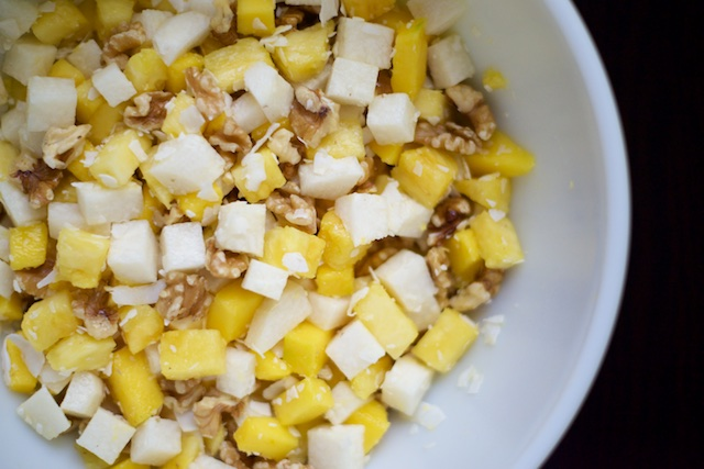 Tropical Jicama Salad Recipe (paleo, primal, gluten-free)