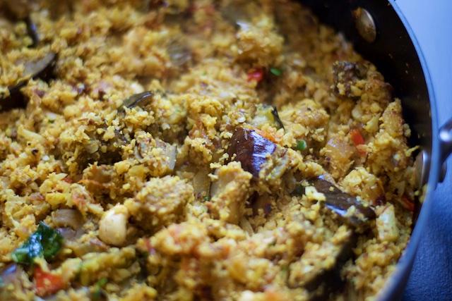 Vangi Bhath (Eggplant Rice) Recipe (paleo, primal, gluten-free)