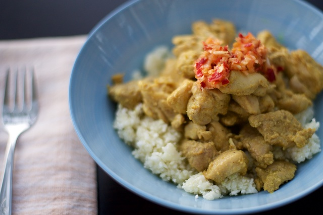 Simple Ginger Curry Chicken Recipe (paleo, primal, gluten-free)