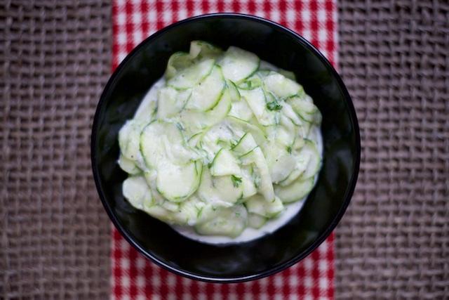 Gurkensalat (German Cucumber Salad) Recipe [paleo, primal, gluten-free]
