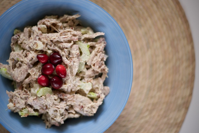 Thanksgiving Leftovers Turkey Salad Recipe [paleo, primal, gluten-free]