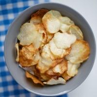 """Baked """"No-tato"""" (Eddo/Taro) Chips"""
