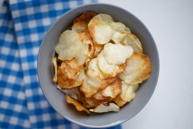 "Baked ""No-tato"" (Eddo/Taro) Potato Chips Recipe [paleo, primal, gluten-free]"