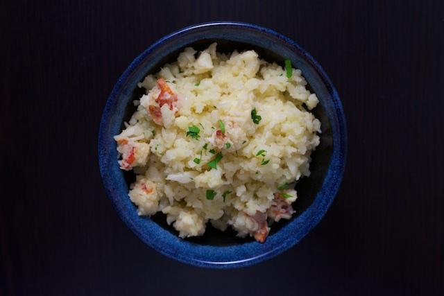 Lobster Cauliflower Risotto Recipe [paleo, primal, gluten-free]