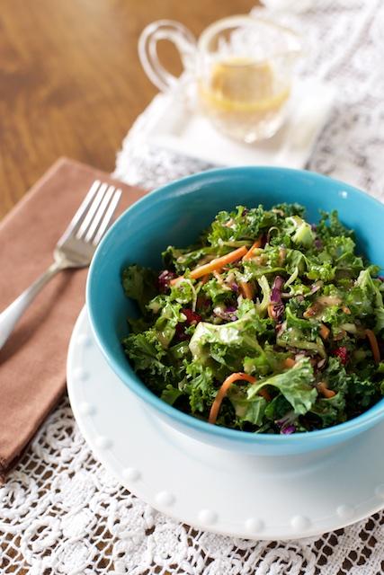 Kale Salad with Pomegranate Vinaigrette Recipe [paleo, primal, gluten-free]