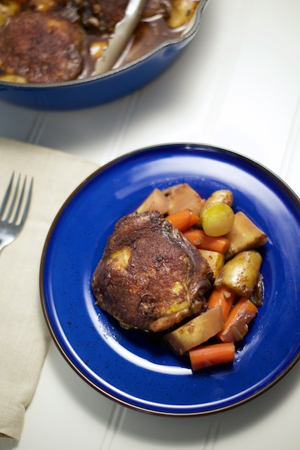 Braised Ethiopian Chicken Thighs Recipe [paleo, primal, gluten-free]