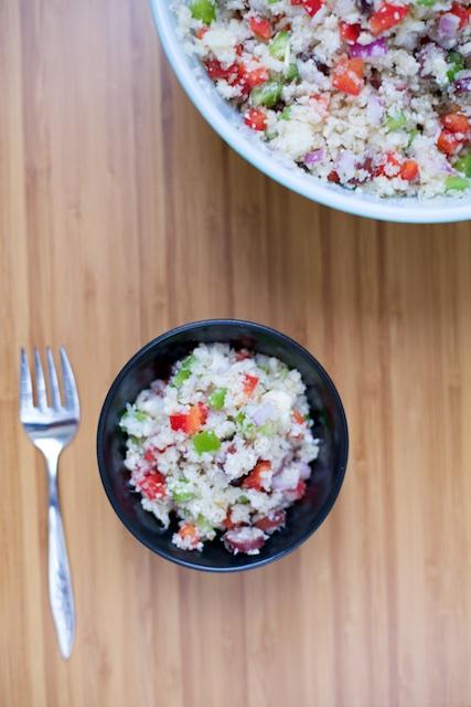 "Greek ""Orzo"" Cauliflower Salad Recipe [paleo, primal, gluten-free]"