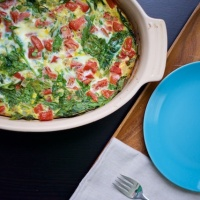 Spinach and Tomato Egg Bake