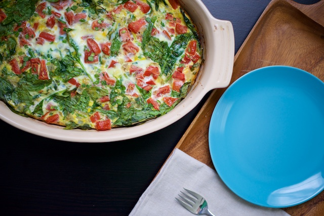 Spinach and Tomato Egg Bake Recipe [paleo, primal, gluten-free]