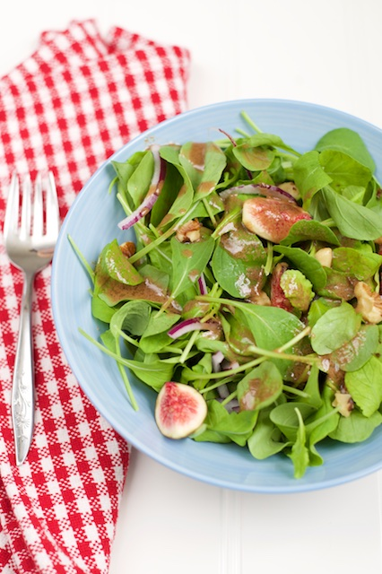Arugula and Fresh Fig Salad Recipe [paleo, primal, gluten-free]