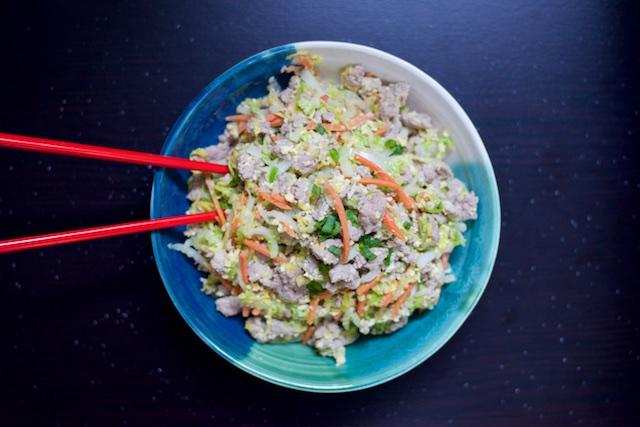 Pork Spring (Un)Rolls Sauté Recipe [paleo, primal, gluten free]