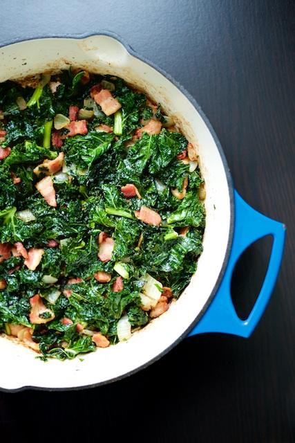 Bacon, Kale & Onion Sauté Recipe [paleo, primal, gluten-free]
