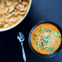 Beef and Eggplant Red Curry