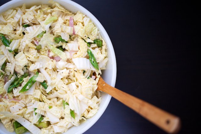 Asparagus and Napa Cabbage Salad with Dijon Vinaigrette | That Paleo ...