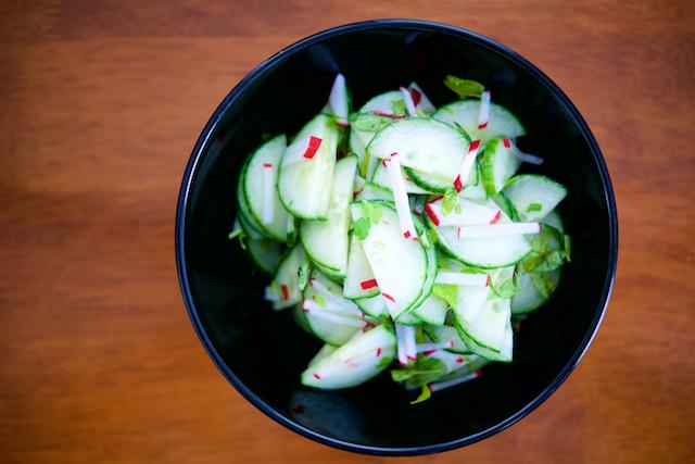 Herbaceous Cucumber-Radish Salad Recipe [paleo, primal, gluten-free, diary-free]