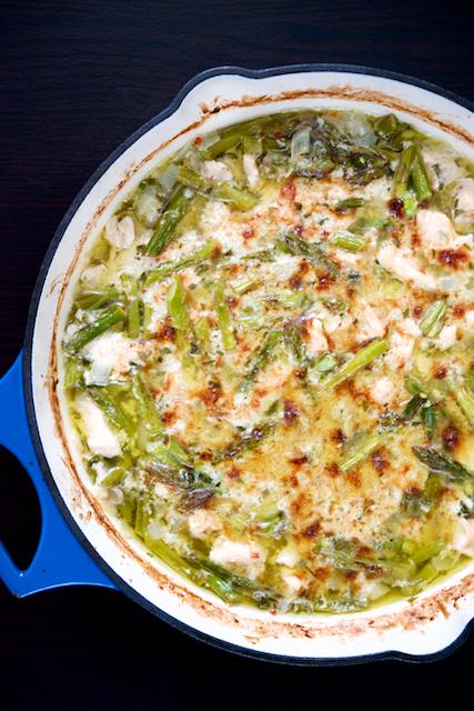 Creamy Chicken & Asparagus Bake Recipe [paleo, primal, gluten-free]