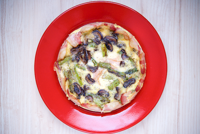 Asparagus, Mushroom and Bacon Quiche Recipe [paleo, primal, keto, gluten-free] (1)