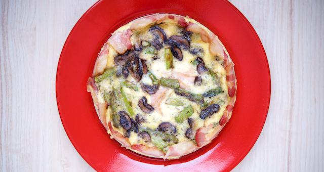 Asparagus, Mushroom and Bacon Quiche Recipe [paleo, primal, keto, gluten-free] (1)