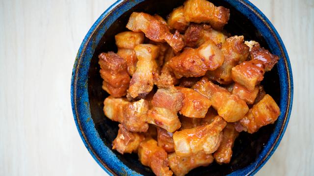 Pork Belly Buffalo Keto Bites Recipe [paleo, primal, gluten-free, dairy-free]