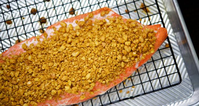 Macadamia and Curry Crusted Salmon Recipe [paleo, primal, gluten-free, keto]